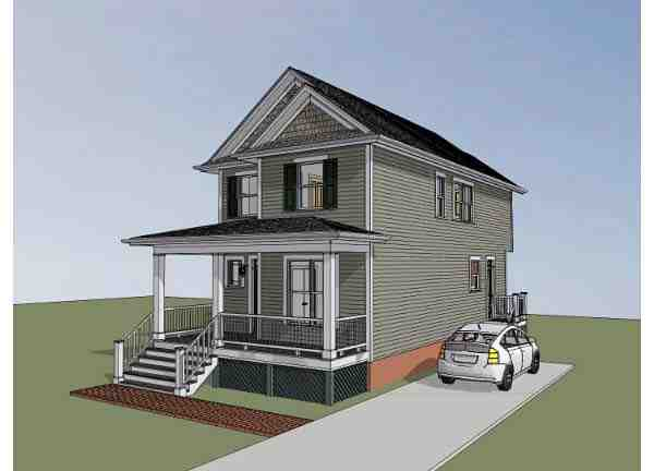 Colonial, Southern House Plan 75502 with 4 Beds, 3 Baths Picture 1
