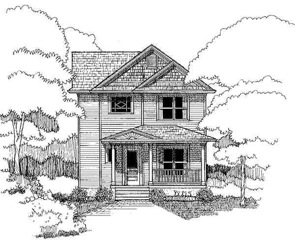 Colonial, Southern House Plan 75502 with 4 Beds, 3 Baths Picture 2