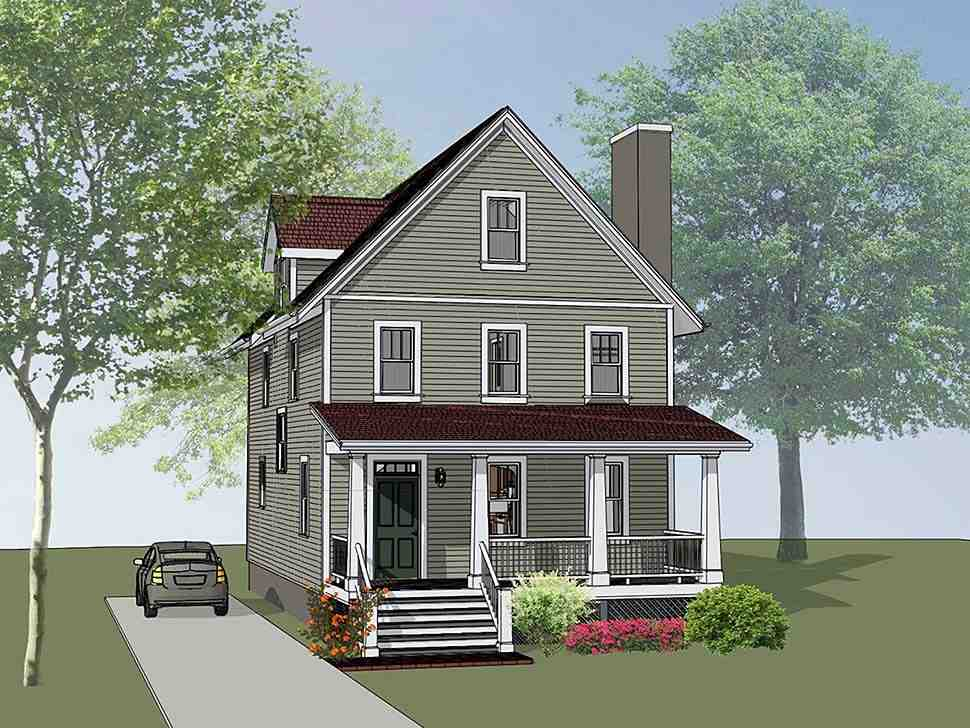 Colonial, Cottage, Southern House Plan 75505 with 3 Beds, 3 Baths Elevation