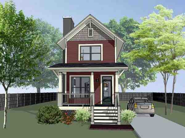 Colonial, Country, Southern House Plan 75525 with 2 Beds, 3 Baths Elevation