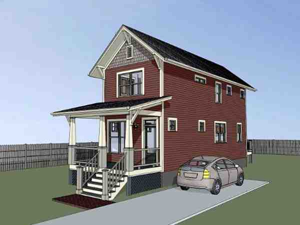 Colonial, Country, Southern House Plan 75525 with 2 Beds, 3 Baths Picture 1
