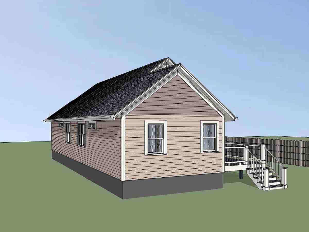 Bungalow, Cottage House Plan 75543 with 4 Beds, 2 Baths Picture 1