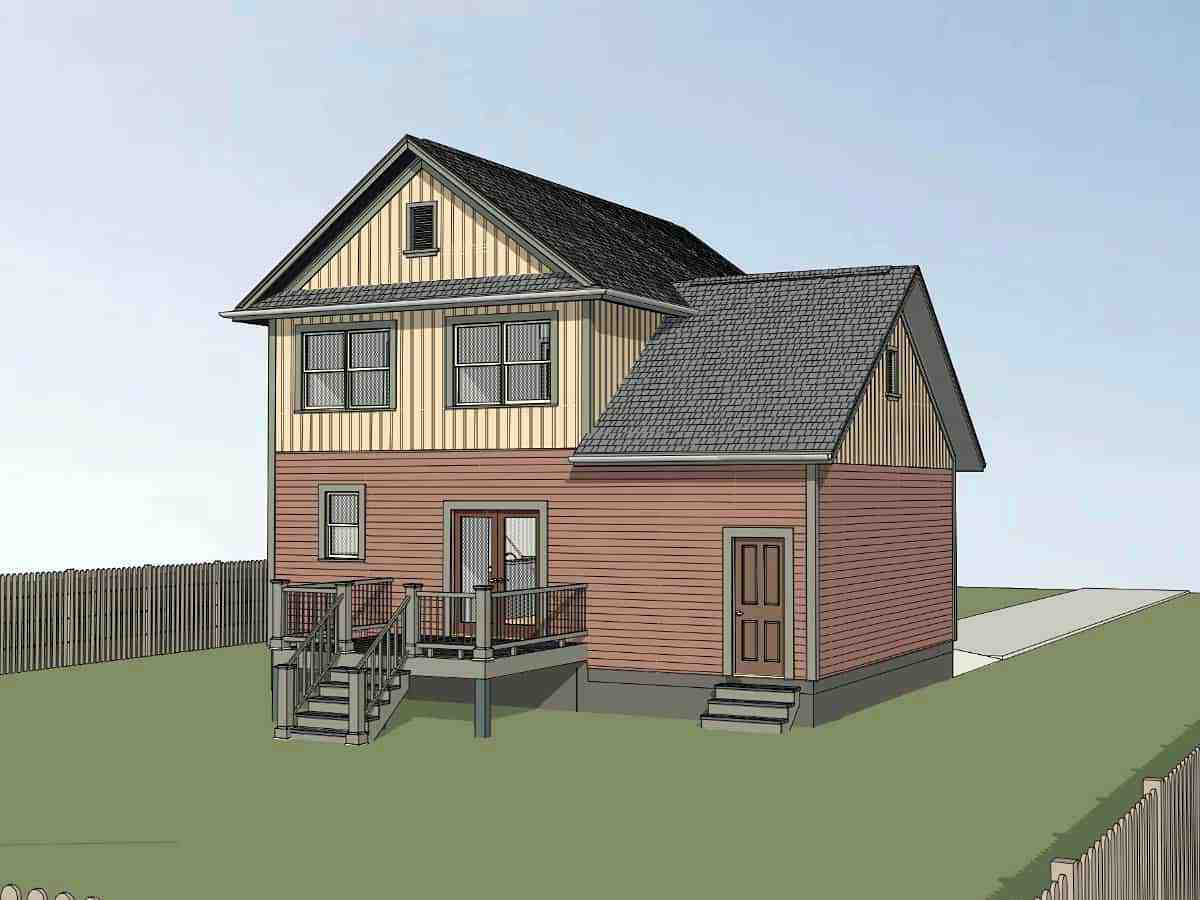 Bungalow, Craftsman House Plan 75544 with 3 Beds, 3 Baths, 1 Car Garage Picture 2
