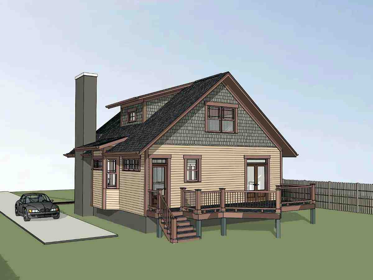 Bungalow House Plan 75545 with 3 Beds, 3 Baths Picture 1