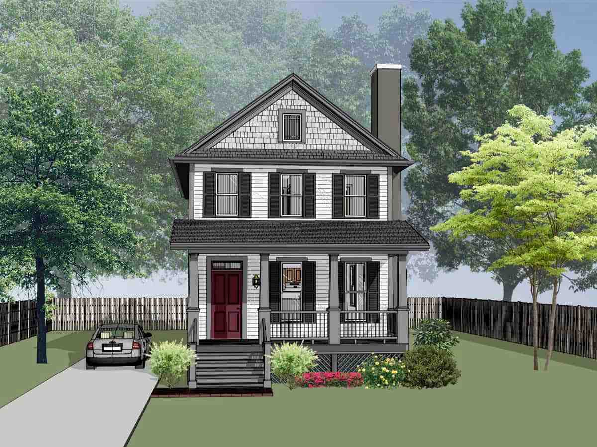 Colonial, Country, Southern House Plan 75563 with 3 Beds, 3 Baths Elevation