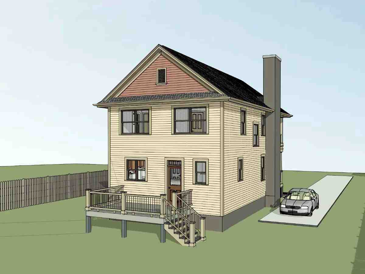 Colonial, Country, Southern House Plan 75570 with 3 Beds, 3 Baths Picture 2