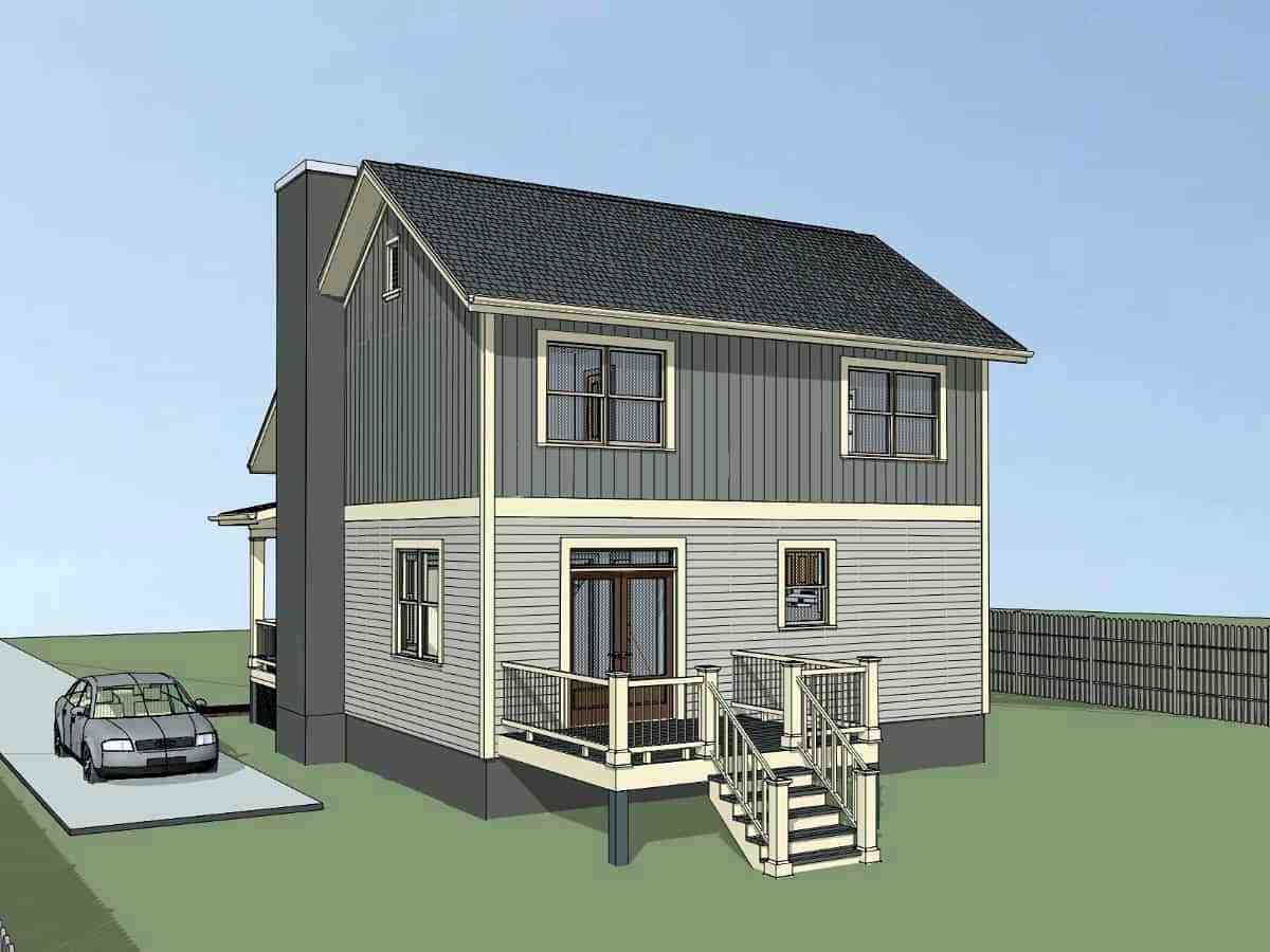 Bungalow, Colonial, Cottage, Traditional House Plan 75574 with 4 Beds, 3 Baths Picture 1