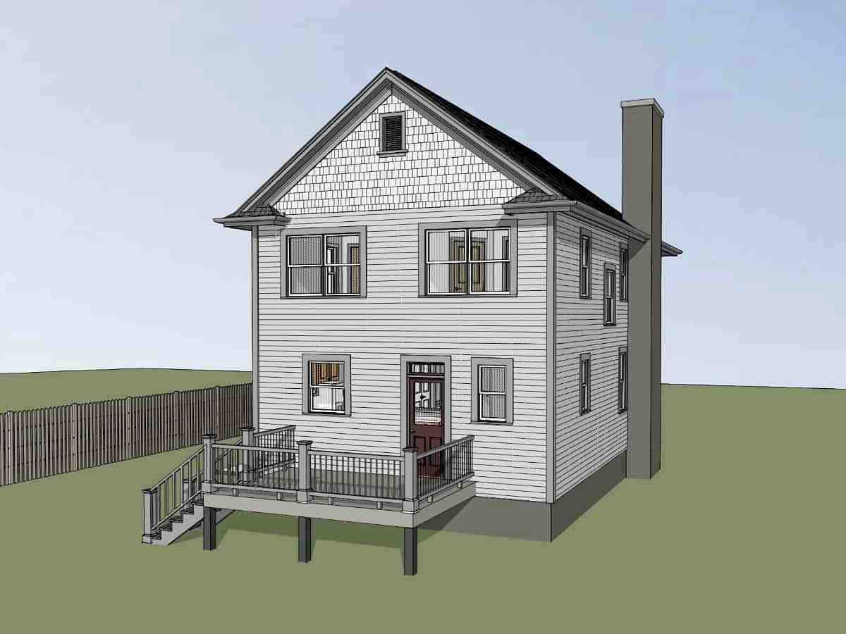Colonial, Country, Southern House Plan 75575 with 3 Beds, 3 Baths Picture 2