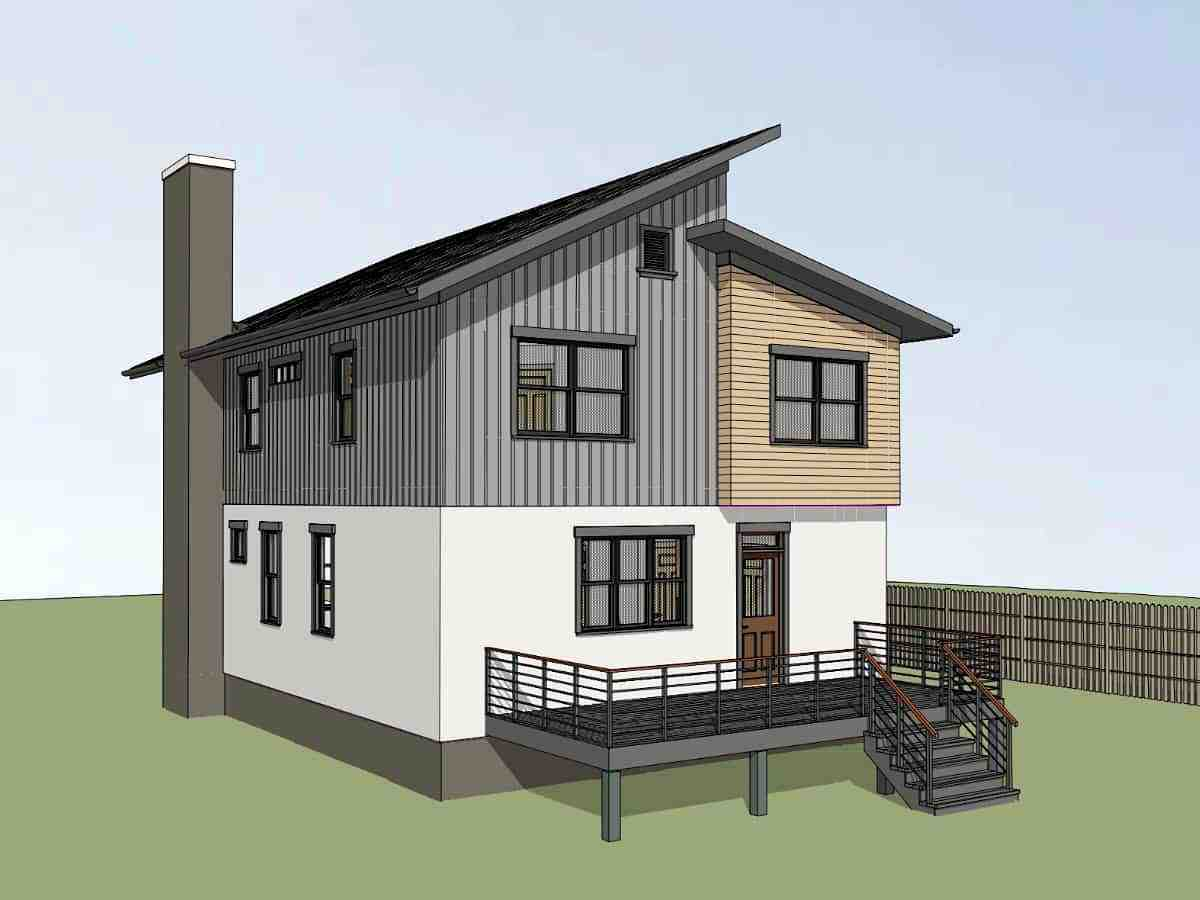 Contemporary, Modern House Plan 75598 with 3 Beds, 3 Baths Picture 1