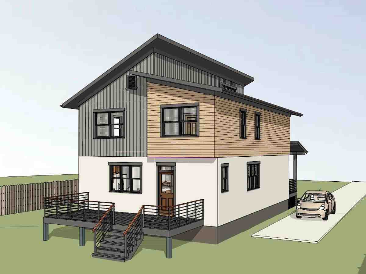 Contemporary, Modern House Plan 75598 with 3 Beds, 3 Baths Picture 2