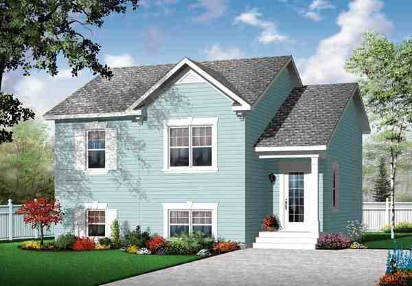 Traditional House Plan 76111 with 2 Beds, 1 Baths Elevation