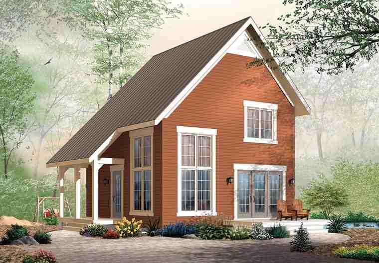 Cabin, Traditional House Plan 76149 with 2 Beds, 2 Baths Elevation