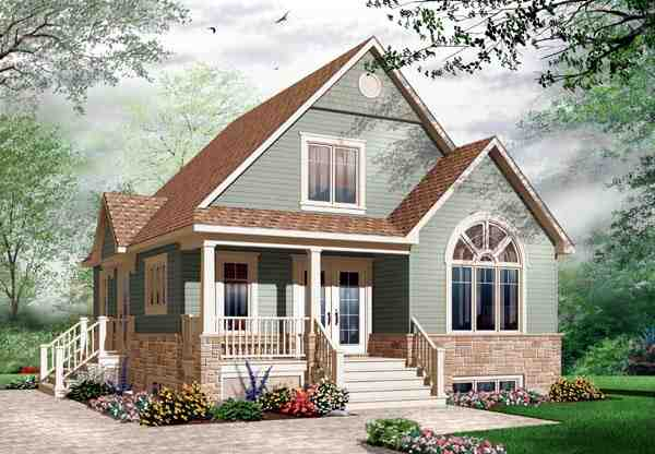 Country, Craftsman House Plan 76214 with 3 Beds, 2 Baths Elevation