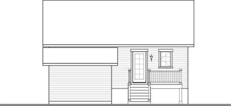 Country Multi-Family Plan 76283 with 4 Beds, 2 Baths Rear Elevation