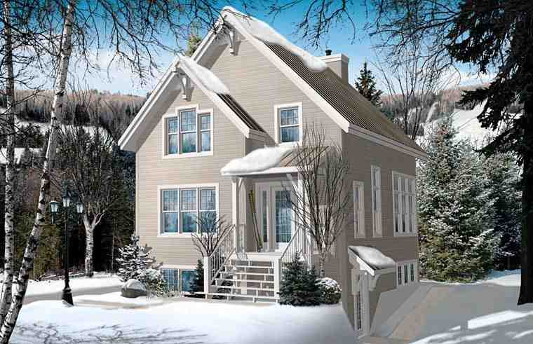 Cottage, Country, Craftsman House Plan 76337 with 4 Beds, 3 Baths Elevation