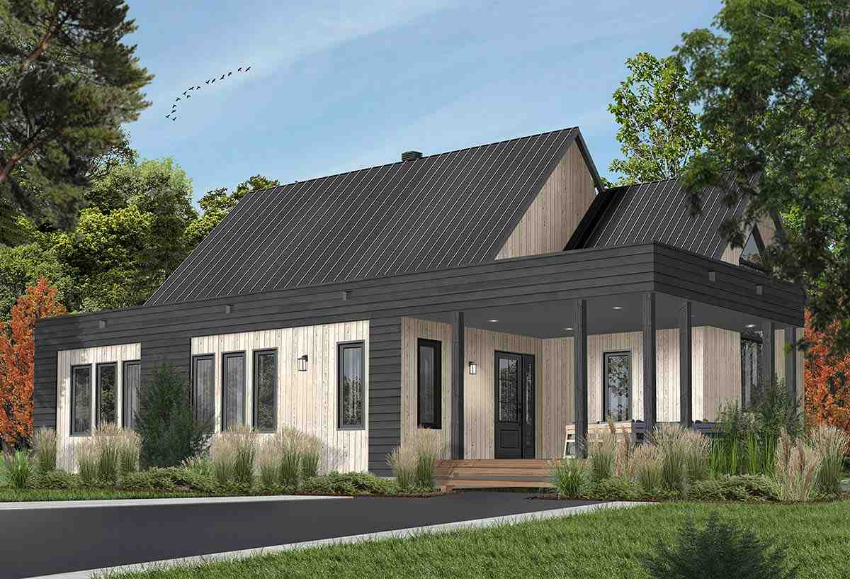 Contemporary, Cottage, Modern House Plan 76527 with 2 Beds, 1 Baths Picture 1