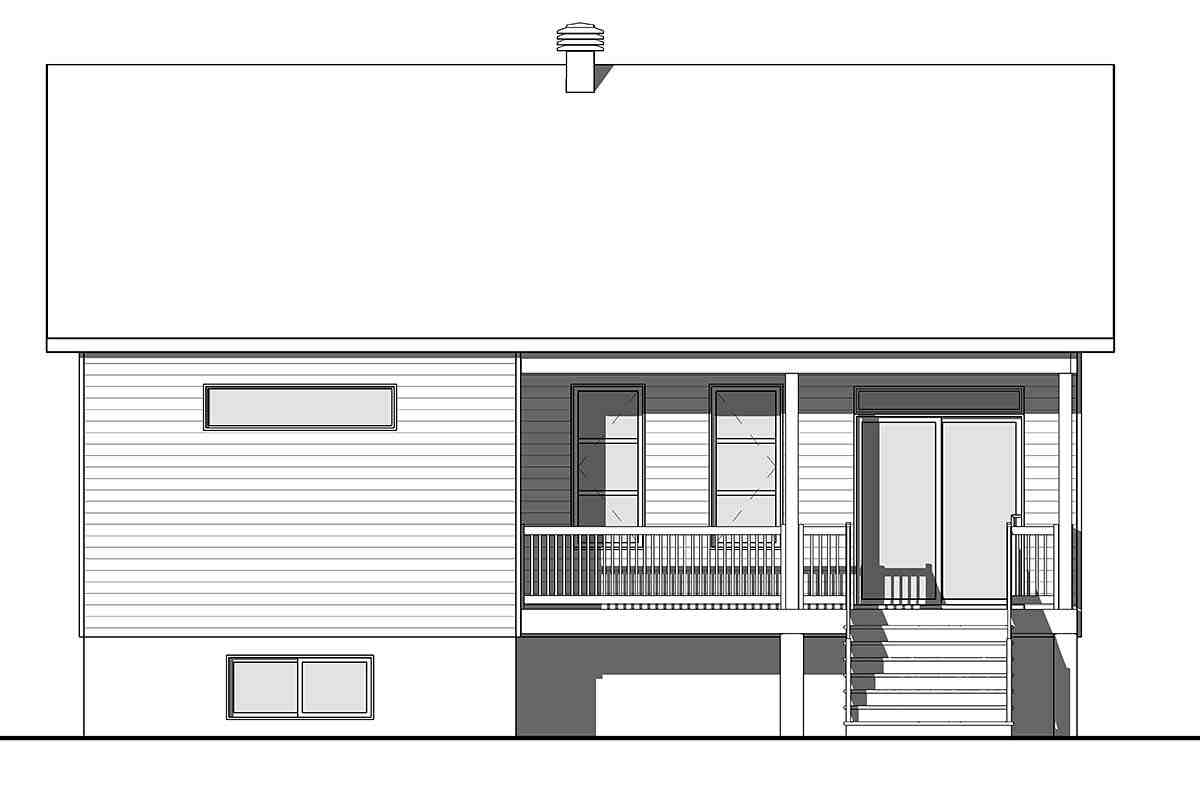 Cabin, Craftsman, Ranch House Plan 76558 with 2 Beds, 1 Baths Picture 1
