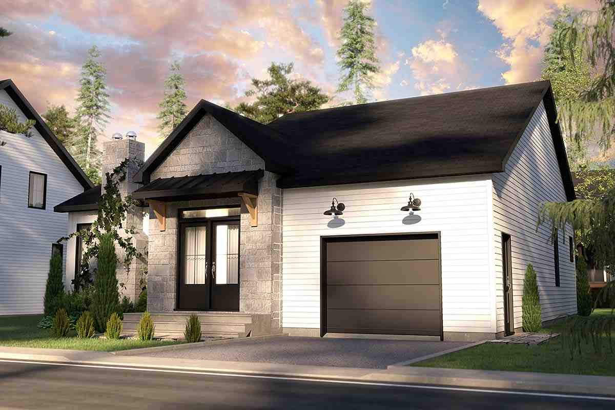 Bungalow, Country, Craftsman, Farmhouse, Ranch House Plan 76568 with 2 Beds, 2 Baths, 1 Car Garage Picture 1