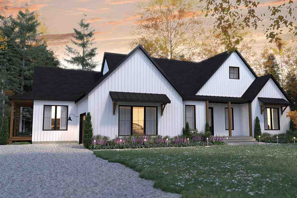 Cabin, Cottage, Country, Farmhouse, Ranch House Plan 76572 with 2 Beds, 3 Baths, 1 Car Garage Picture 1