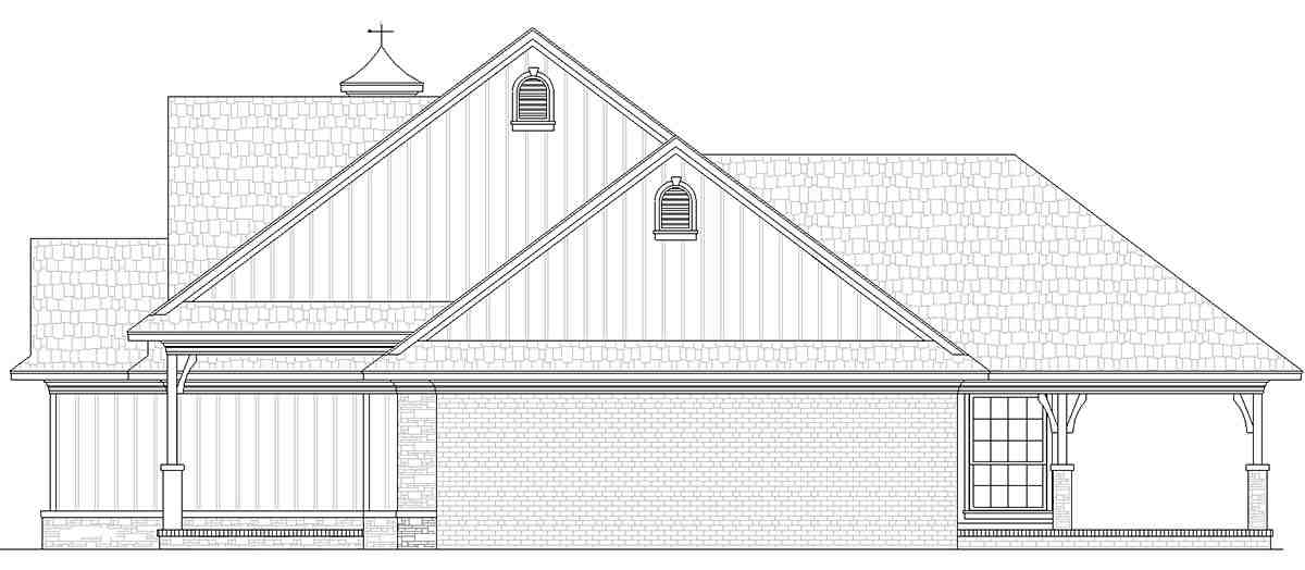 Country House Plan 76933 with 3 Beds, 3 Baths, 2 Car Garage Picture 1