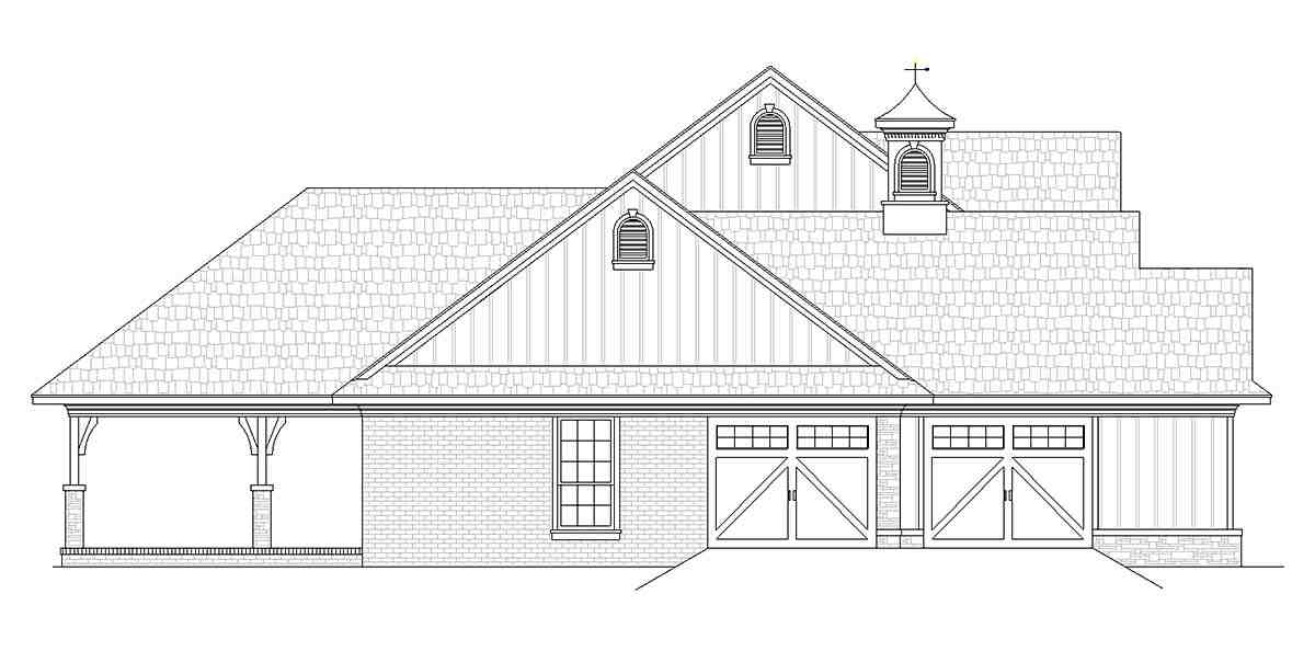 Country House Plan 76933 with 3 Beds, 3 Baths, 2 Car Garage Picture 2
