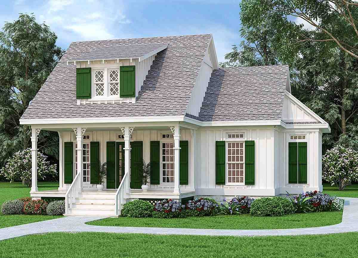 Cottage House Plan 76942 with 1 Beds, 2 Baths Elevation