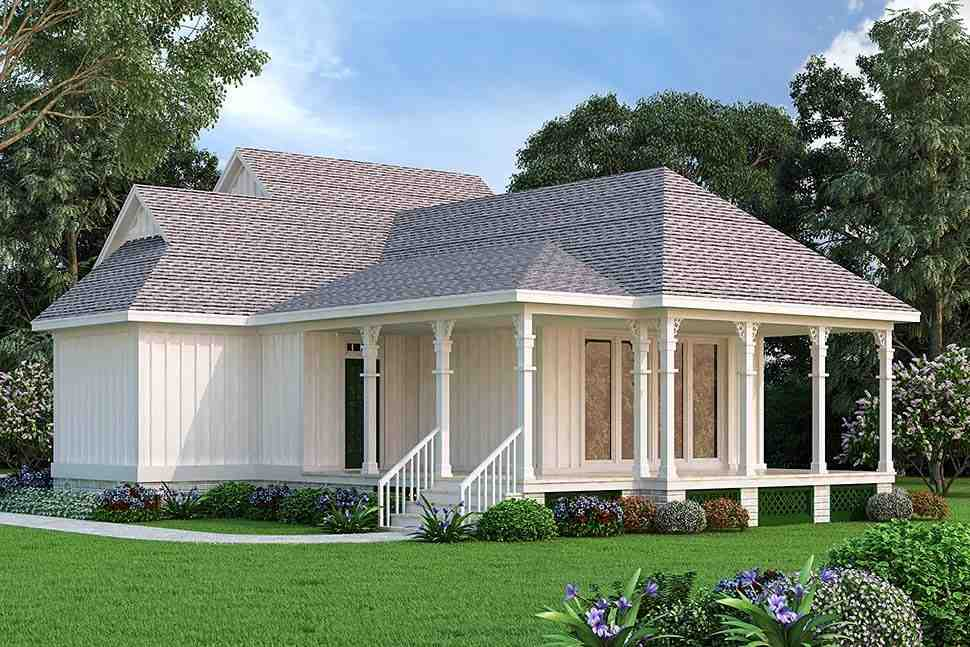Cottage House Plan 76942 with 1 Beds, 2 Baths Picture 4
