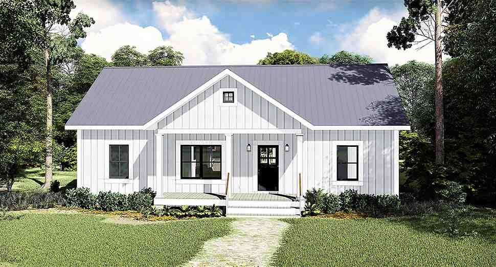 Cottage, Country House Plan 77400 with 3 Beds, 2 Baths Elevation