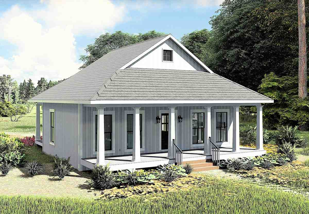 Country, Southern House Plan 77405 with 2 Beds, 1 Baths Picture 2