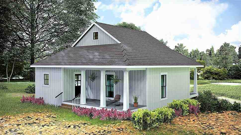 Country, Southern House Plan 77405 with 2 Beds, 1 Baths Picture 3