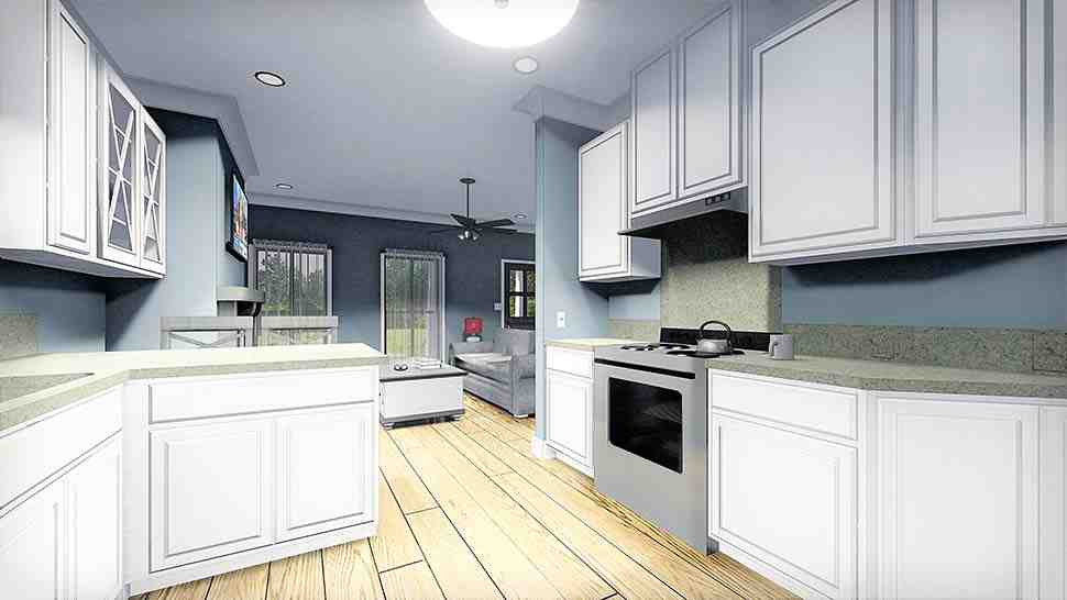 Country, Southern House Plan 77405 with 2 Beds, 1 Baths Picture 4