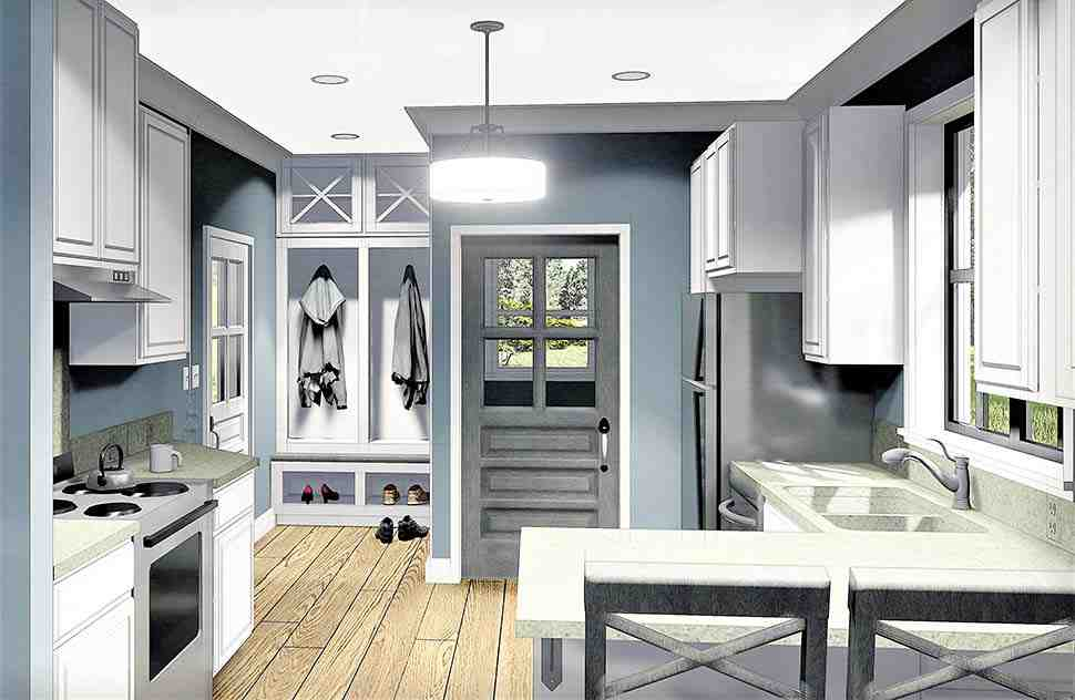 Country, Southern House Plan 77405 with 2 Beds, 1 Baths Picture 9