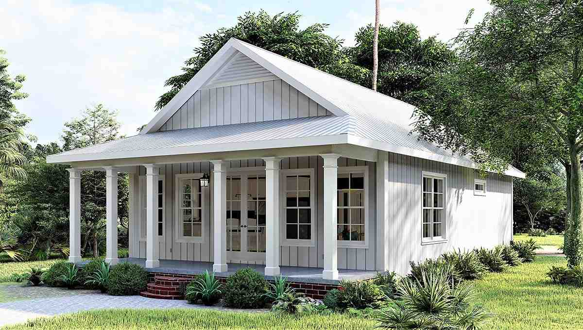 Country, Southern House Plan 77412 with 2 Beds, 2 Baths Picture 1