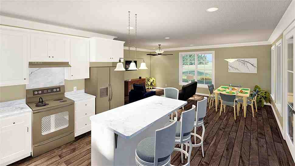 Country, Southern House Plan 77412 with 2 Beds, 2 Baths Picture 3