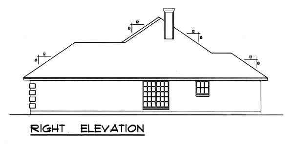 Traditional House Plan 77755 with 3 Beds, 2 Baths, 2 Car Garage Picture 2