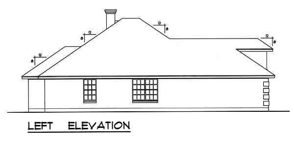 Traditional House Plan 77758 with 4 Beds, 3 Baths, 2 Car Garage Picture 1