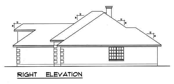 Traditional House Plan 77758 with 4 Beds, 3 Baths, 2 Car Garage Picture 2