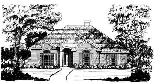 Traditional House Plan 77760 with 3 Beds, 2 Baths, 2 Car Garage Elevation