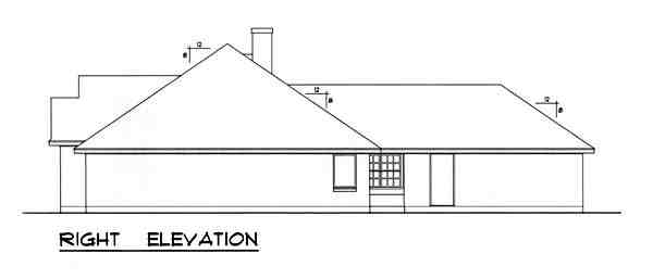Traditional House Plan 77760 with 3 Beds, 2 Baths, 2 Car Garage Picture 2
