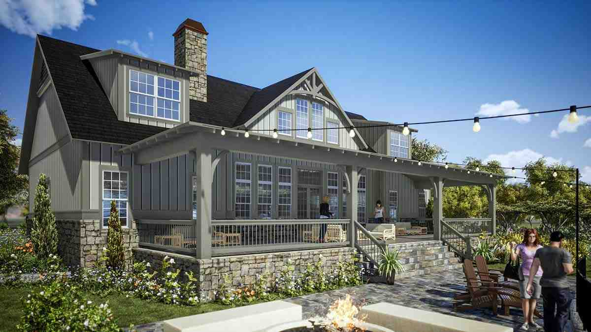 Farmhouse, Traditional House Plan 78502 with 5 Beds, 6 Baths, 2 Car Garage Picture 1