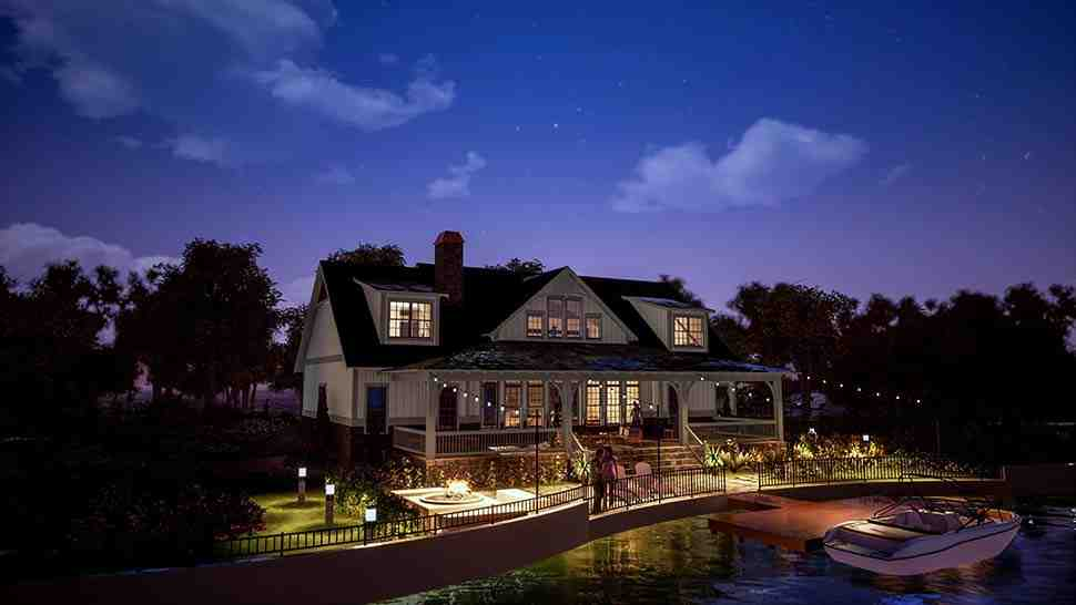Farmhouse, Traditional House Plan 78502 with 5 Beds, 6 Baths, 2 Car Garage Picture 3