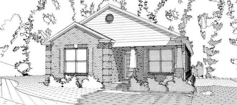 Bungalow, Traditional House Plan 78654 with 3 Beds, 2 Baths Elevation