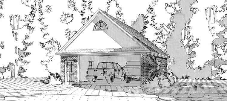 Traditional 2 Car Garage Plan 78661 Elevation