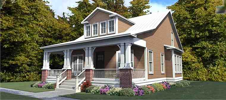 Cottage, Country, Craftsman House Plan 78893 with 4 Beds, 4 Baths Elevation