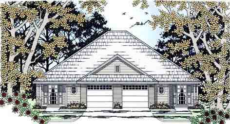 Country Multi-Family Plan 79238 with 6 Beds, 2 Baths, 2 Car Garage Elevation
