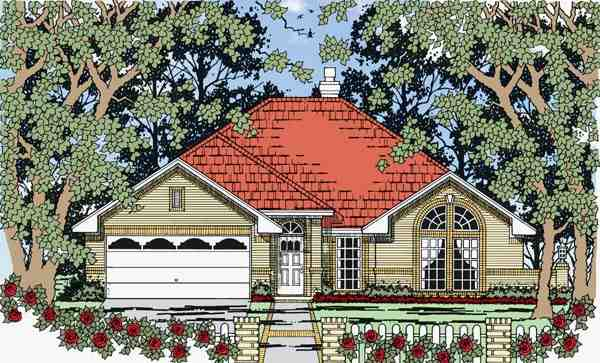European, Traditional House Plan 79264 with 4 Beds, 2 Baths, 2 Car Garage Elevation