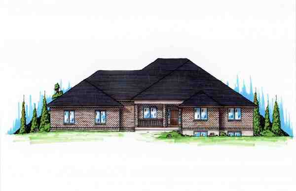 Traditional House Plan 79744 with 5 Beds, 4 Baths, 3 Car Garage Elevation