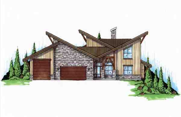 Contemporary, Modern House Plan 79932 with 4 Beds, 4 Baths, 3 Car Garage Elevation