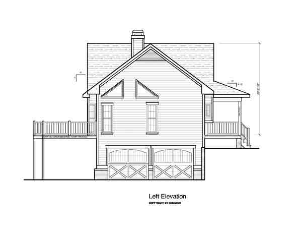 Cottage House Plan 80152 with 3 Beds, 3 Baths, 2 Car Garage Picture 1