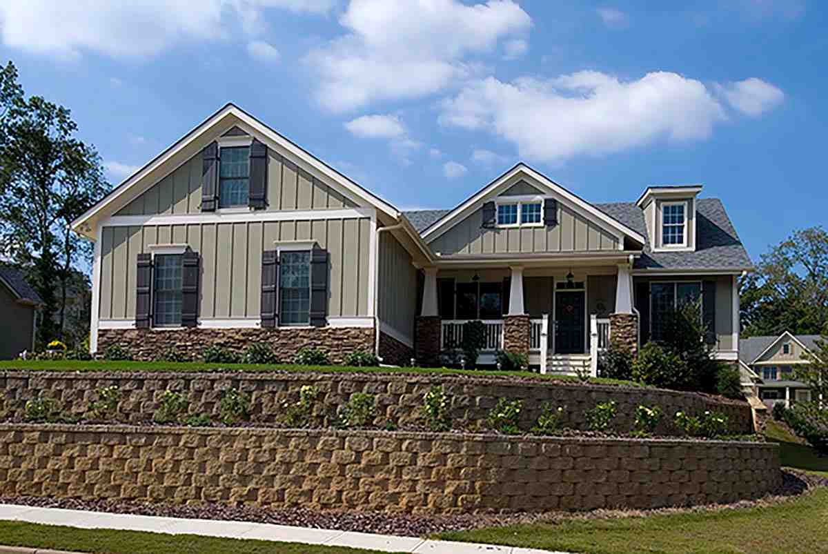 Craftsman, Ranch, Southern House Plan 80259 with 4 Beds, 2 Baths, 2 Car Garage Elevation